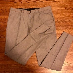 Zara Straight Leg Houndstooth Dress Pants